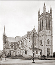 All Saints Church as it appeared at the end of the 19th century