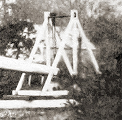 Detail of the dolly seen Bevington's photograph