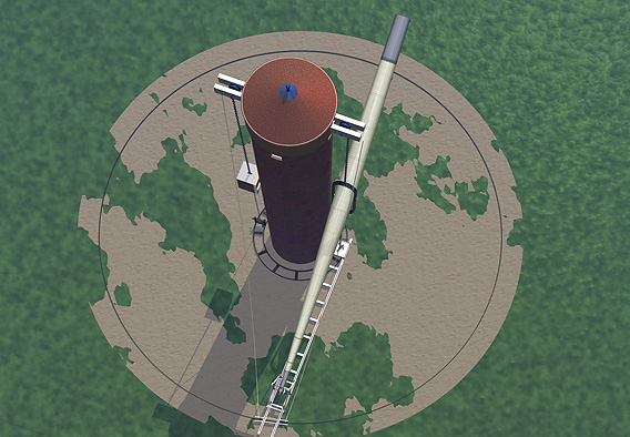 Craig Telescope - the tower seen from above