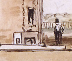 Detail of the dolly as seen in Sargent's sketch