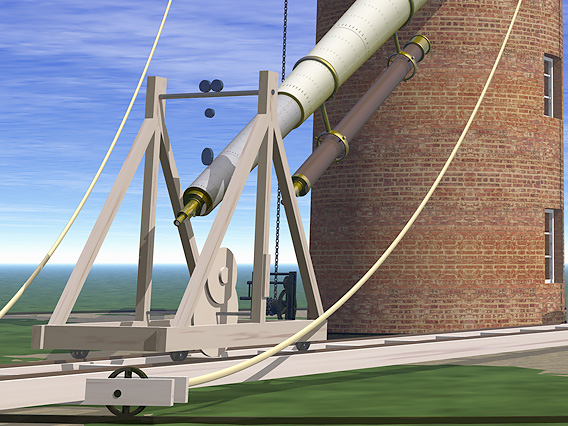 Craig Telescope - the dolly and tower
