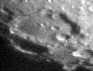 Clavius crater on the Moon as seen through a 6-inch Slater telescope