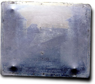 First permanent photograph taken by Joseph Nicéphore Niépce in 1826