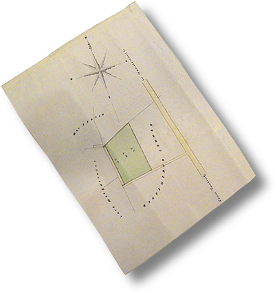 Part of the Indenture revealing the exact location of the site of the telescope