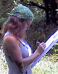 Rachel taking notes for initial survey