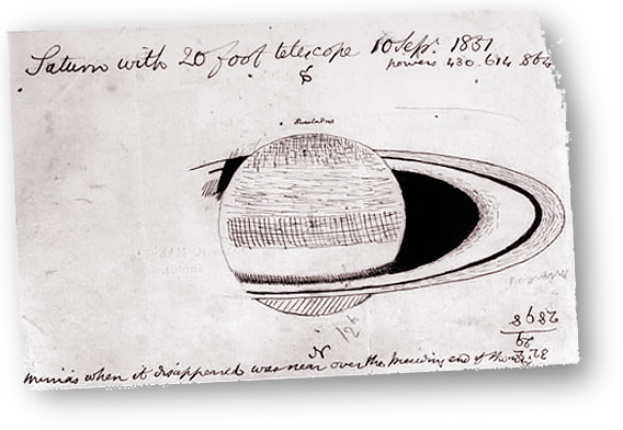 Saturn as seen by William Lassell