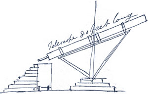 Drawing of the CRaig Telescope before it was built