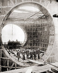 During the construction of the Thanes Tunnel Crossing